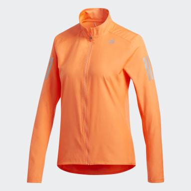 Women Running Orange Own the Run Jacket