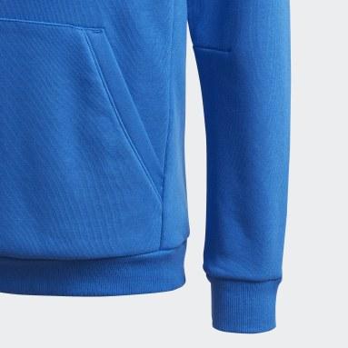 Sweat-shirt à capuche Must Haves Badge of Sport Bleu Garçons Fitness Et Training