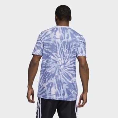 Men's Basketball Purple Lil Stripe Tie-Dye Graphic Tee