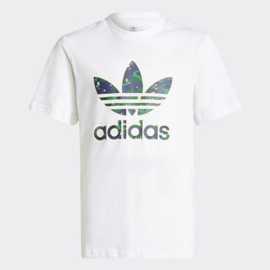 Genç Originals Beyaz Allover Print Camo Graphic Tişört