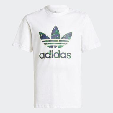 Camiseta Allover Print Camo Graphic Blanco Niño Originals