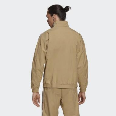 Mænd Originals Beige Adicolor Classics Lock-Up Trefoil træningsoverdel