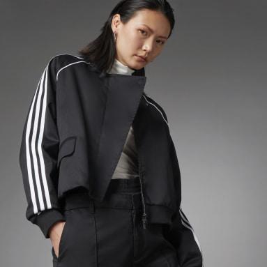 Women Originals Black Asymmetric Superstar Track Jacket
