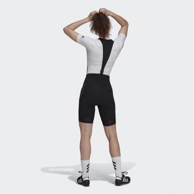 Frauen Radfahren The Padded Adiventure Cycling Trägershorts Schwarz