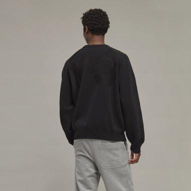Sweat-shirt Y-3 Classic Knit Crew Noir Hommes Y-3
