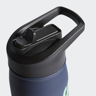Boxing Blue Steel Straw Metal Bottle 600 ML