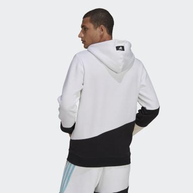 Men's Sportswear White adidas Sportswear Colorblock Hoodie