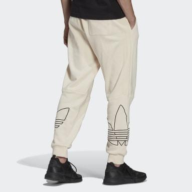 Muži Originals bílá Sportovní kalhoty Graphic Tricolor