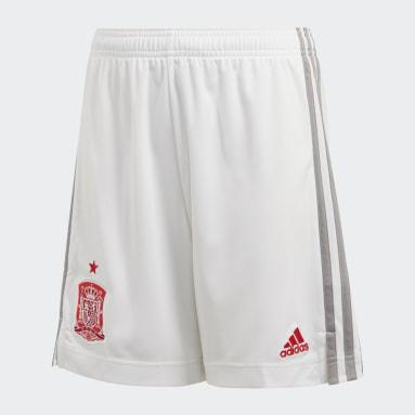 Pantalón corto segunda equipación España Blanco Niño Fútbol