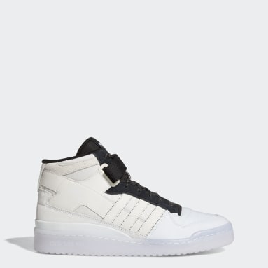 Men's Originals White Forum Mid Shoes