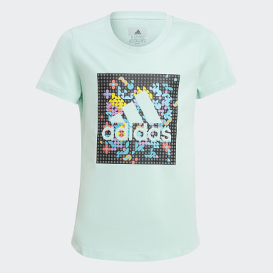 Youth Training Turquoise adidas x LEGO® DOTS™ Graphic Tee