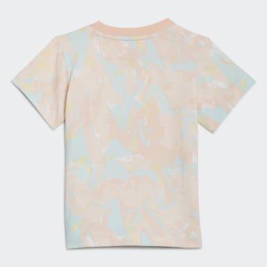 Bebek Originals Pembe Allover Print Marble Tişört
