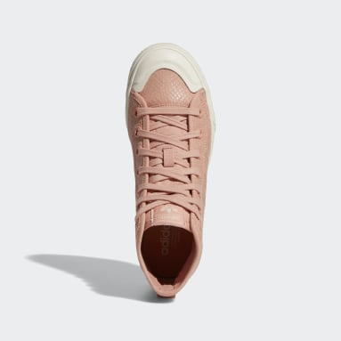 Dames Originals Roze Nizza RF Platform Mid Schoenen