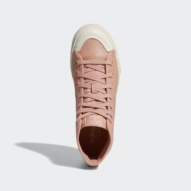 Women's Originals Pink Nizza RF Platform Mid Shoes