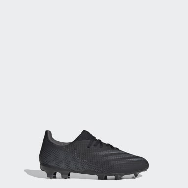 Children Soccer Black X Ghosted.3 Firm Ground Soccer Cleats