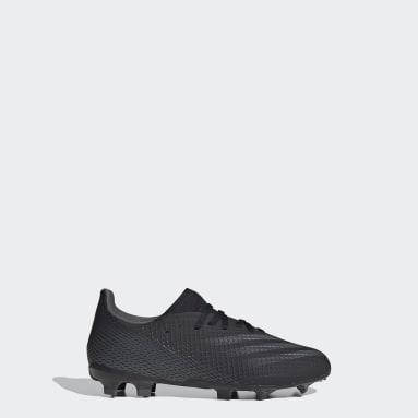 Zapatos de fútbol X Ghosted.3 Terreno Firme Negro Niño Fútbol