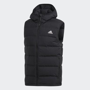 Men City Outdoor Black Helionic Hooded Down Vest