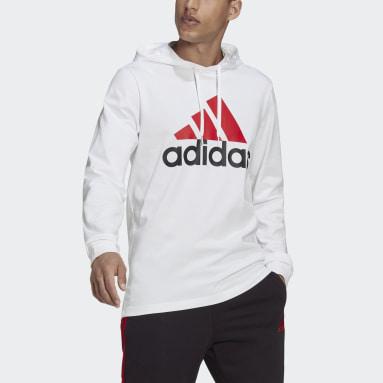 Men's Essentials White Essentials Logo Hoodie
