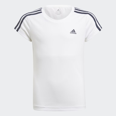 T-shirt Designed 2 Move 3-Stripes Bianco Ragazza Fitness & Training