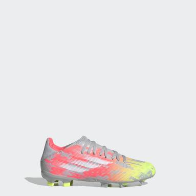 Kids Football Grey X Speedflow.3 Firm Ground Boots