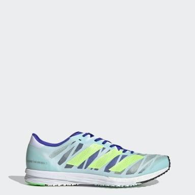 Men Running Green Adizero Takumi Sen 7 Shoes