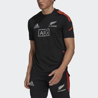 Männer Rugby All Blacks Rugby Primeblue Performance T-Shirt Schwarz