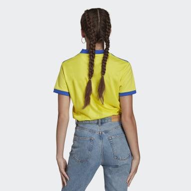 Camiseta tercera equipación Juventus 21/22 Amarillo Mujer Fútbol