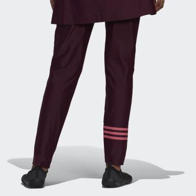 Pantalon de natation 3-Stripes Rouge Femmes Natation