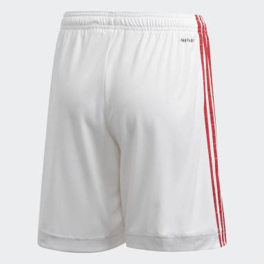 เด็กผู้ชาย ฟุตบอล สีขาว กางเกงฟุตบอลชุดเหย้า Manchester United 20/21