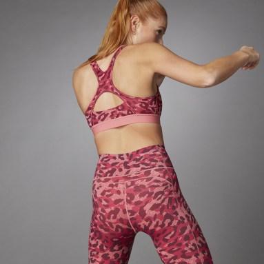 Brassière Believe This Medium Support Allover Print Rose Femmes Fitness Et Training
