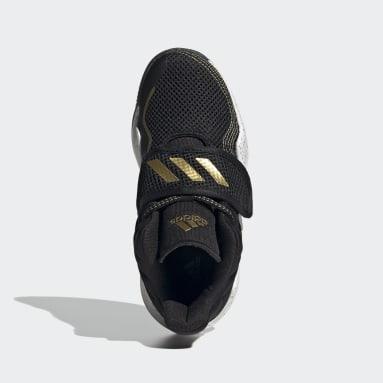 Children Basketball Black Deep Threat Primeblue Shoes