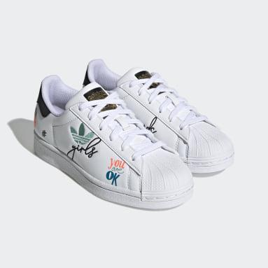 Mädchen Originals Superstar Pure Schuh Weiß
