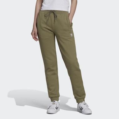 Pantalon sportswear Adicolor Essentials Slim Vert Femmes Originals