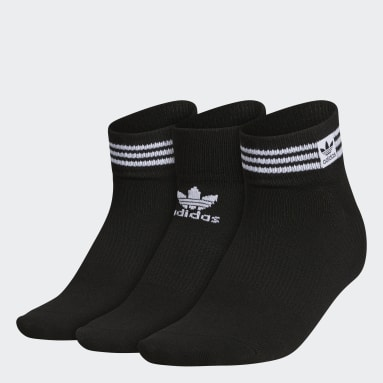 Women's Originals Black Superlite 3-Stripes Low-Cut Socks 3 Pairs