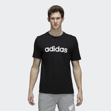 Men Sport Inspired Black Linear SJ Tee