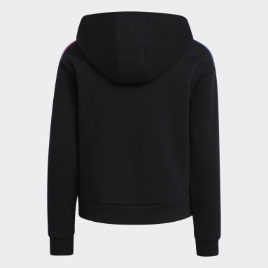 Sweat-shirt à capuche Multicolor 3-Stripes noir Adolescents Entraînement