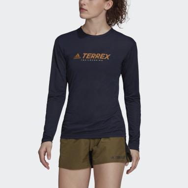 Frauen TERREX TERREX Primeblue Trail Longsleeve Blau