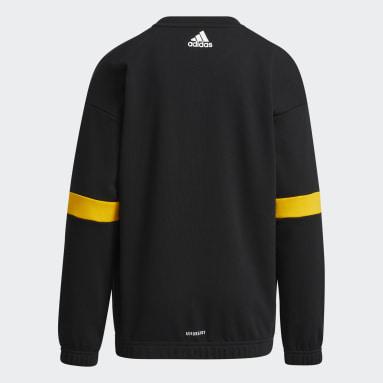 Boys Training Black Crewneck Sweatshirt