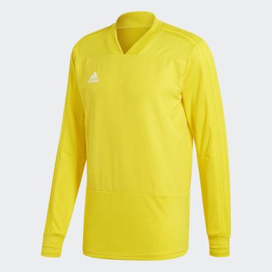 Men Football Yellow Condivo 18 Player Focus Training Top