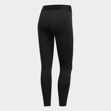 ผู้หญิง โยคะ สีดำ กางเกงรัดรูปขาเจ็ดส่วน Alphaskin Tech