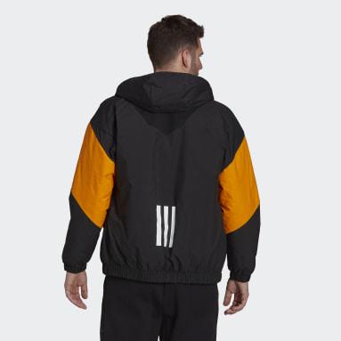 Mænd Overtøj Med Gadestil Sort Back to Sport Insulated Hooded jakke