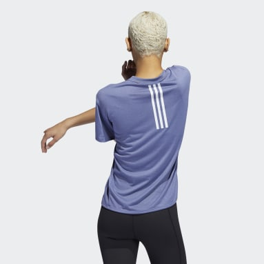 T-shirt da allenamento 3-Stripes AEROREADY Viola Donna Running