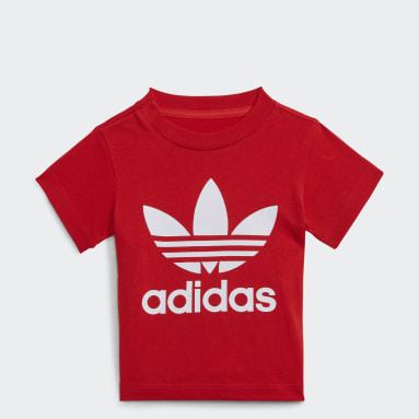 T-shirt Trefoil Rouge Enfants Originals