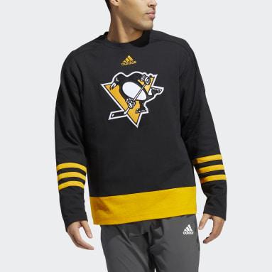 Men's Hockey Black Penguins Skate Lace Hoodie