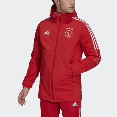 Veste Ajax Amsterdam Winter Rouge Hommes Football