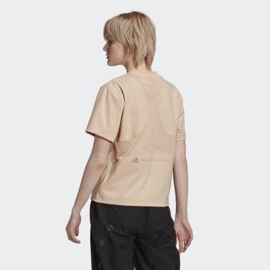 aSMC TPR L TEE Beige Mujer adidas by Stella McCartney