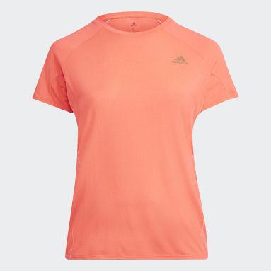 Women Running Pink Runner T-Shirt (Plus Size)