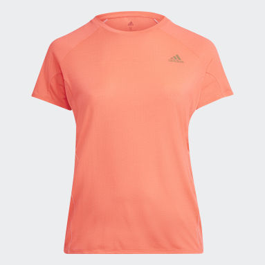 T-shirt Runner (Plus Size) Rosa Mulher Running