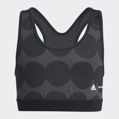 Girls Gym & Training Grey Marimekko Believe This Primegreen AEROREADY Training Bra