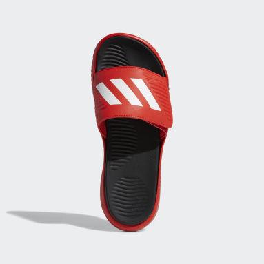 Men's Essentials Red Alphabounce Basketball Slides